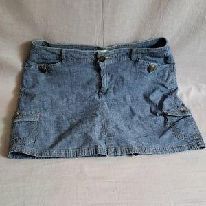 Croft & Barrow Skorts Denim Size 12P Blue Jeans